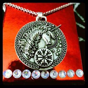 🦄 Silver Viking Unicorn Necklace 🦄